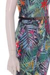 celebrity overall with belt and side pockets floral print