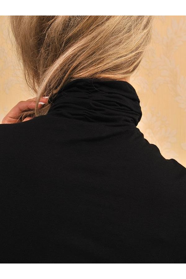 turtleneck blouse with long sleeves black