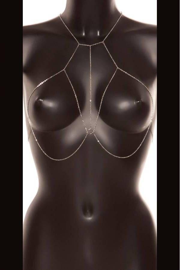Αλυσίδα Στήθους Λαιμού Σέξι Ασημί ISDC31000