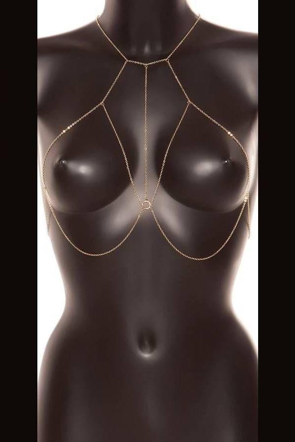 Αλυσίδα Στήθους Λαιμού Σέξι Χρυσή ISDC31000