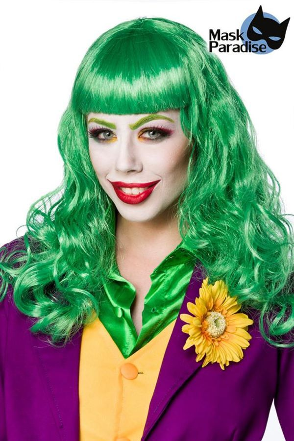 CARNIVAL WIG LADY JOKER METALLIC GREEN DAT2080070