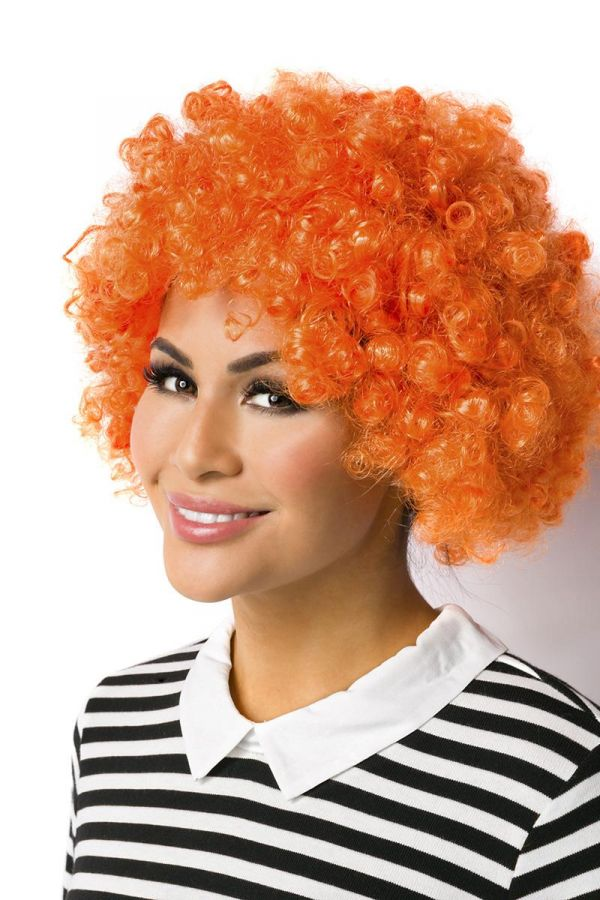 CARNIVAL WIG SHORT CURLY ORANGE DAT2014436