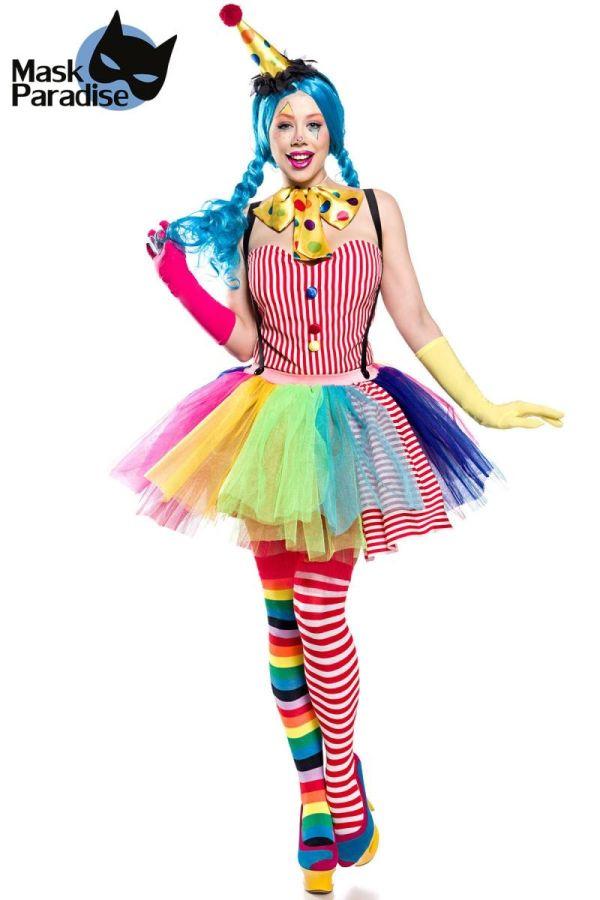 αποκριάτικη στολή σετ κλόουν κορίτσι πολύχρωμη.