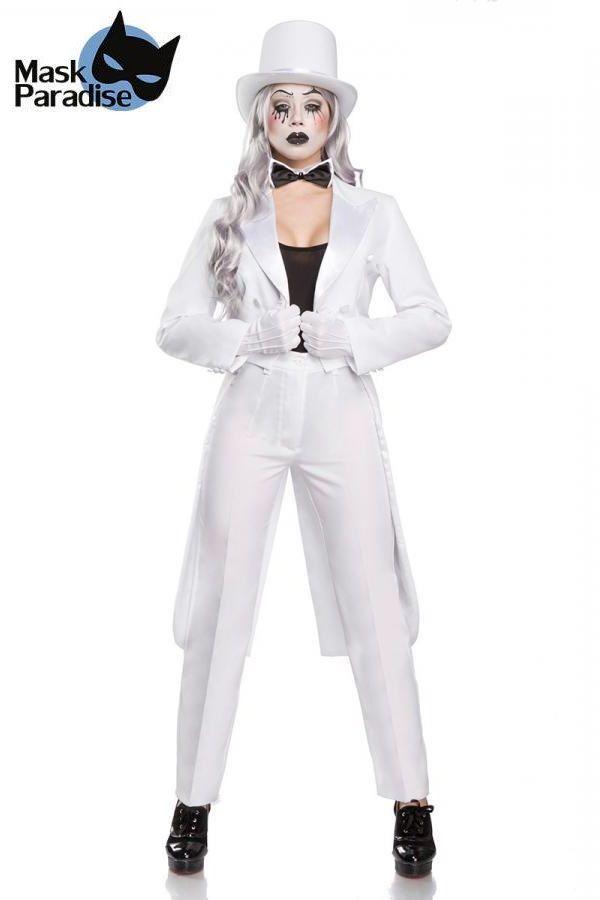 αποκριάτικη στολή σετ παντομίμα άσπρο.