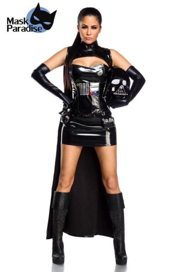 αποκριάτικη στολή σετ lukes father dark lord wetlook μαύρη.