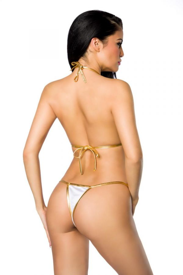sexy brazilian swimwear biniki white gold