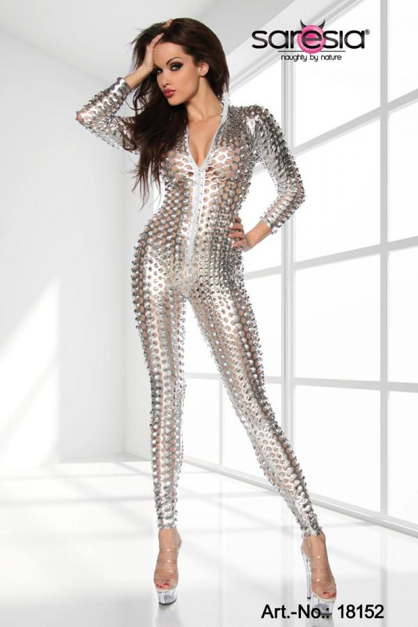 stars exclusive jumpsuit silver