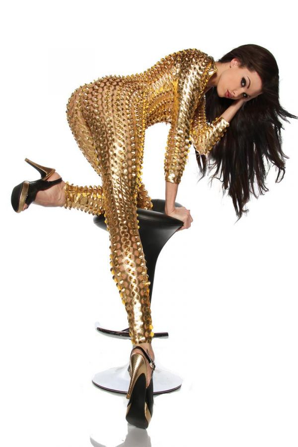 AT1318152 JUMPSUIT STARS GOLD