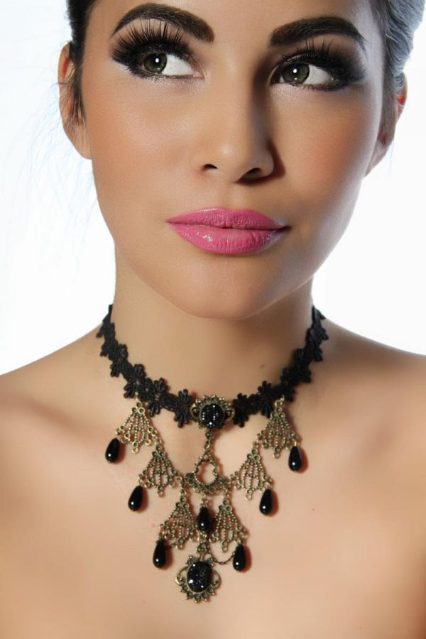 AT1412740 COLLIER GOTHIC BLACK GOLD