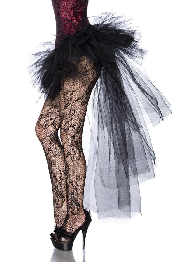 tutu φούστα από τούλι διακοσμημένη με τριαντάφυλλα κοντή μπροστά μακρυά πίσω μαύρη
