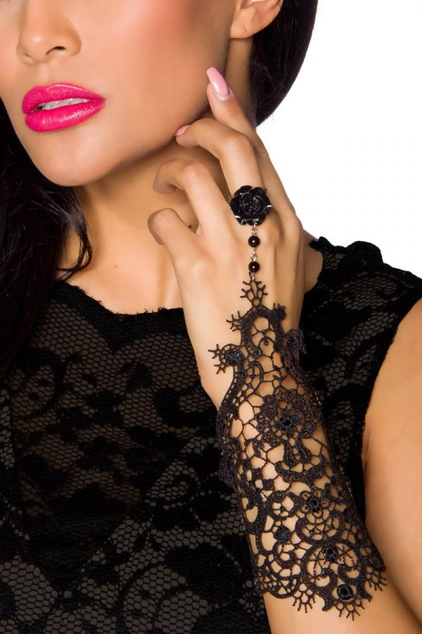 AT1513656 JEWELERY GOTHIC LACE BLACK