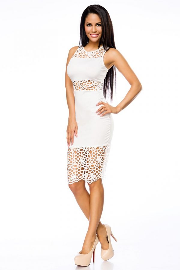 AT1514062 DRESS LACE PENCIL WHITE
