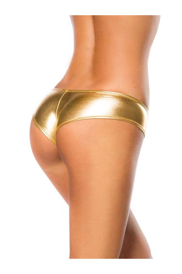 AT1514105 PANTY WET LOOK GOLD