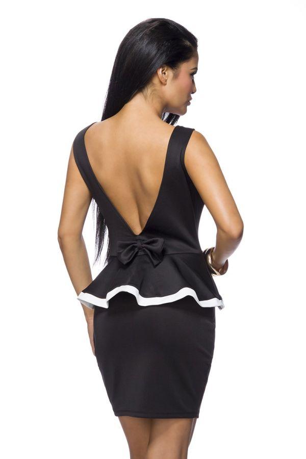 AT1514229 DRESS PEPLUM BLACK
