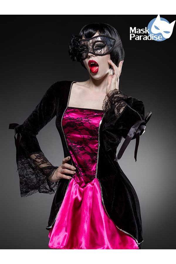 AT1580000 HALLOWEEN COSTUME DRESS BLACK FUCHSIA