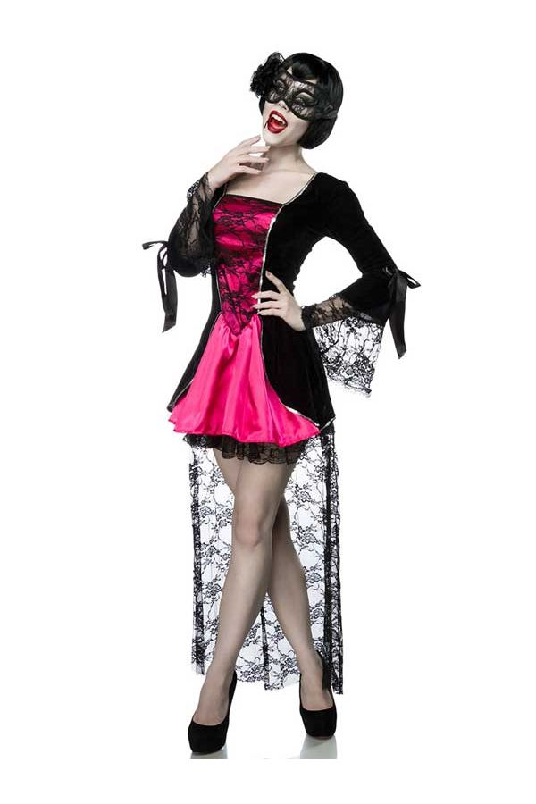 AT1580000 HALLOWEEN COSTUME DRESS BLACK FUCHSIA