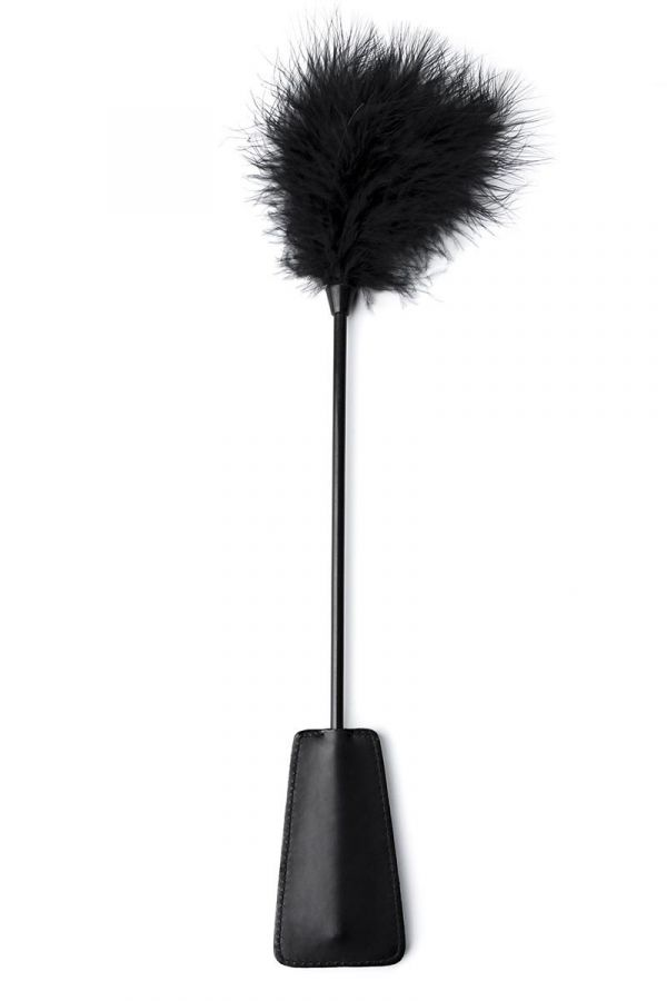 LEATHERETTE PADDLE FEATHER HANDLE BLACK AT1613838