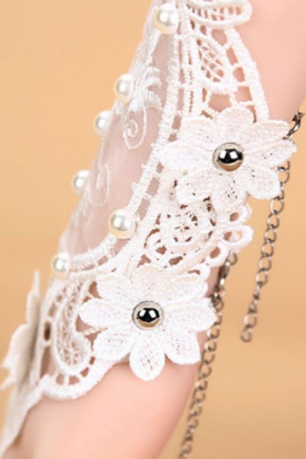HAND ACCESSORY RING LACE WHITE AT1614171