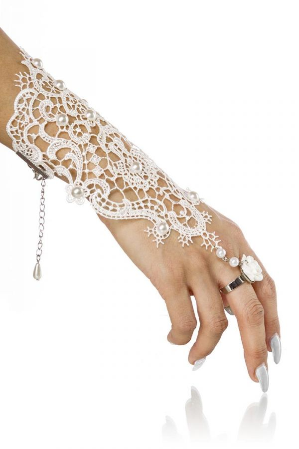 HAND ACCESSORY RING LACE WHITE AT1614335
