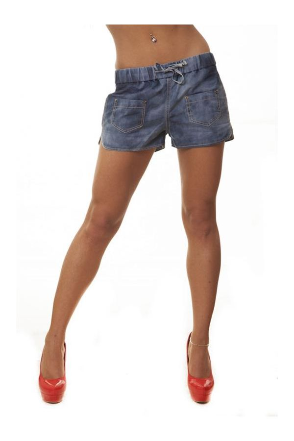BAL06705 SHORTS JEAN BLUE