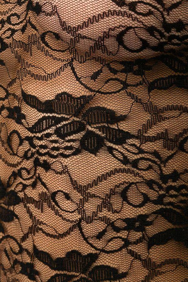 σέξι καυτό δαντελωτό κορμάκι μακριά καμπάνα μανίκια μαύρο