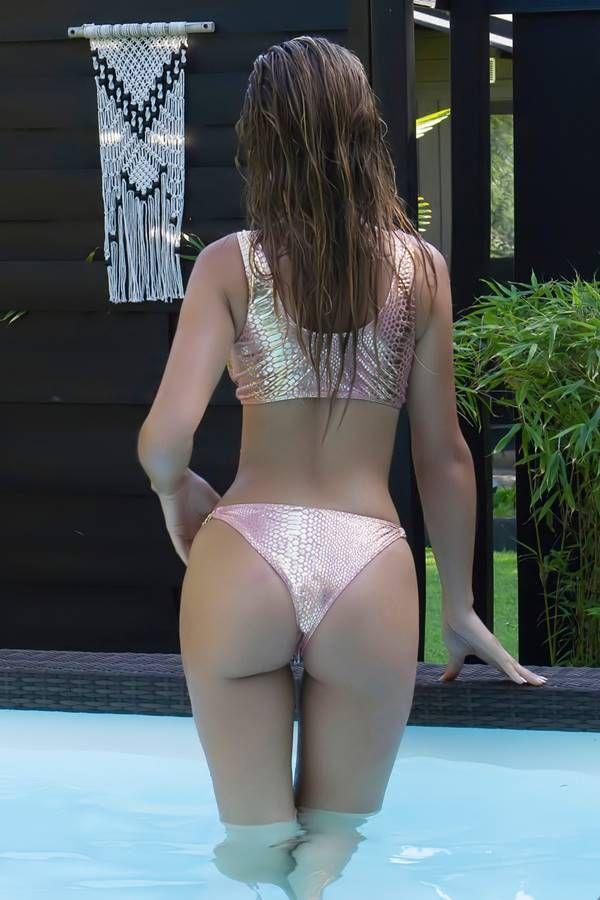 Brazil Bikini Swimsuit Golden Chains Snake Pink GTOCSIB83RI