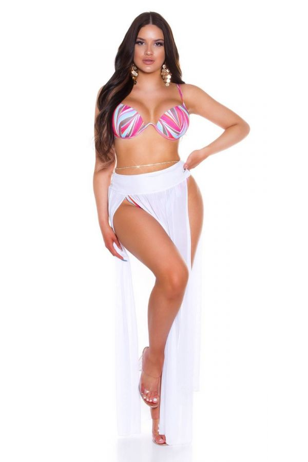 bikini swimsuit brazilian underwire colorful pink.