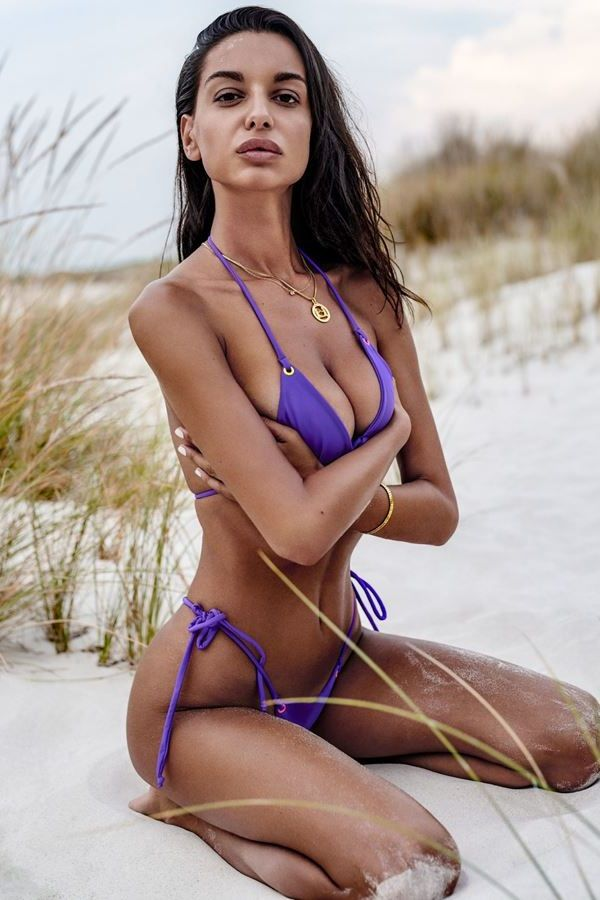 MICRO THONG BIKINI SWIMSUIT SEXY PURPLE SPAOB20463