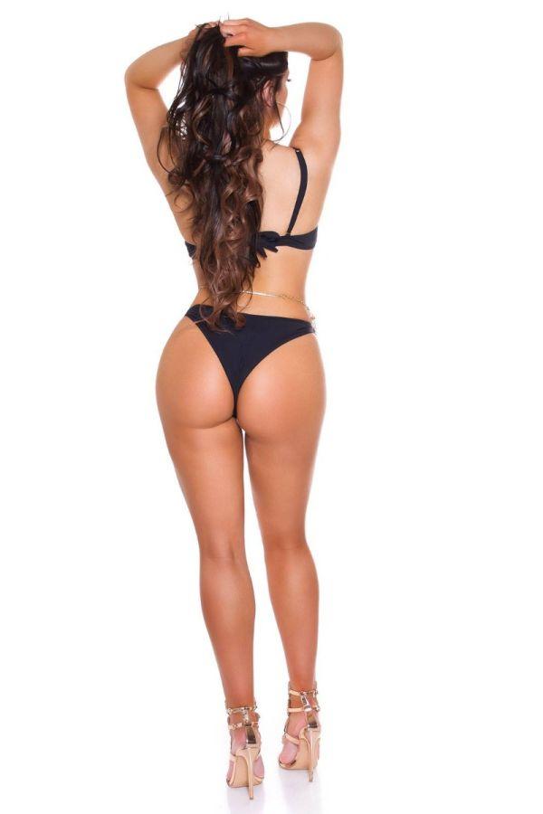 μπικίνι μαγιό brazilian σέξι μπανέλα μαύρο.