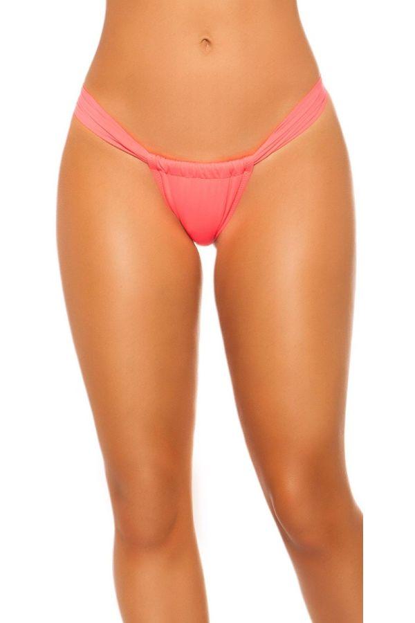 swimsuit bottom slip brazilian neon coral.