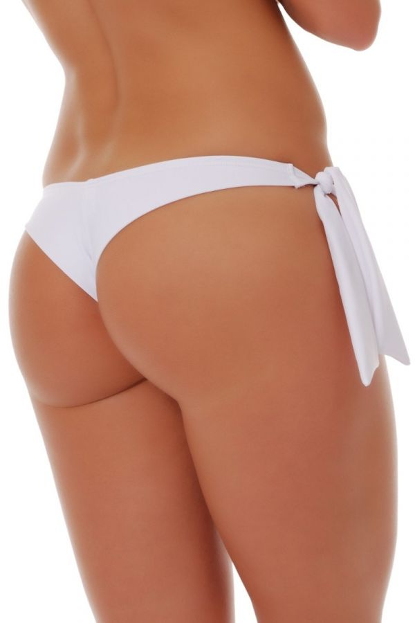 BRAZILIAN SWIMWEAR BOTTOM TIED WHITE TG16502
