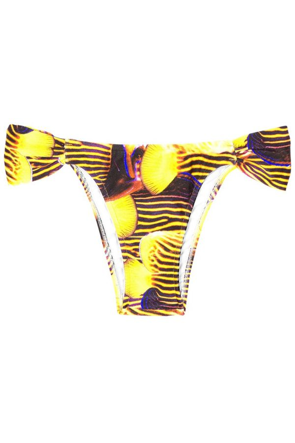 brazilian swimwear bottom multicolor yellow.