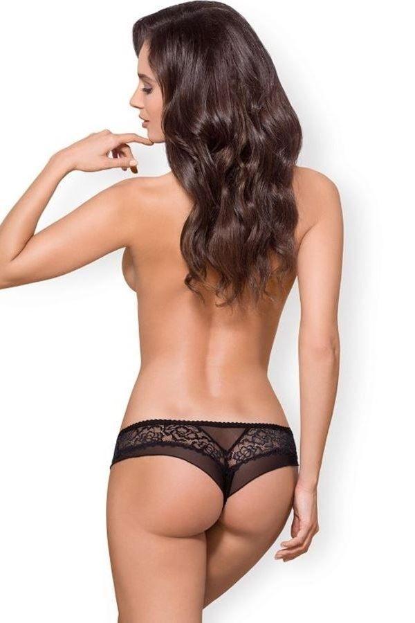 brazilian σλιπ εσώρουχο δαντέλα μαύρο.