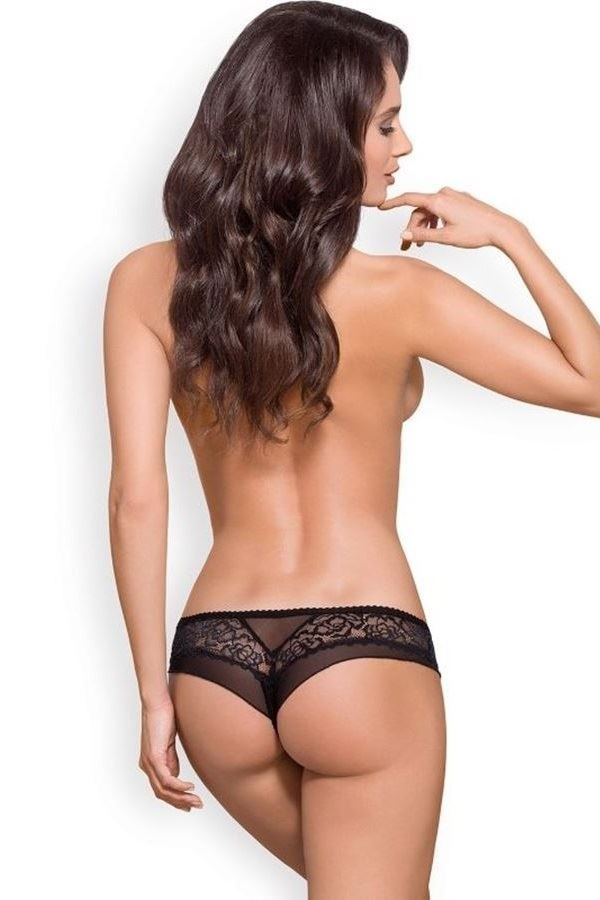 BRAZILIAN BRIEF LINGERIE LACE BLACK DRED221364