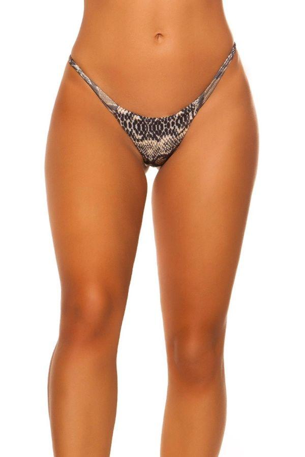 swimsuit bottom slip brazilian style snake.