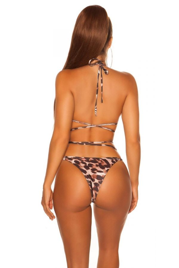 SWIMSUIT BOTTOM SLIP BRAZILIAN LEOPARD ISDH20245