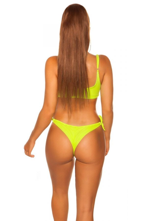 SWIMSUIT BOTTOM SLIP BRAZILIAN NEON YELLOW ISDH95830
