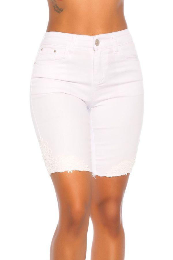 καπρι παντελόνι τζιν ψηλομεσο άσπρο.