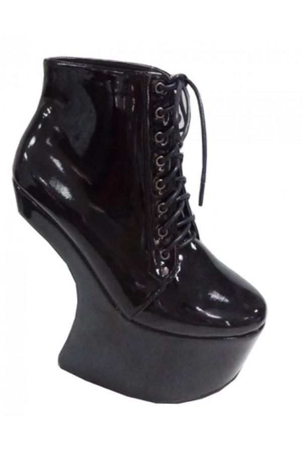 CAS50092 ANKLE BOOT PLATFORM BLACK
