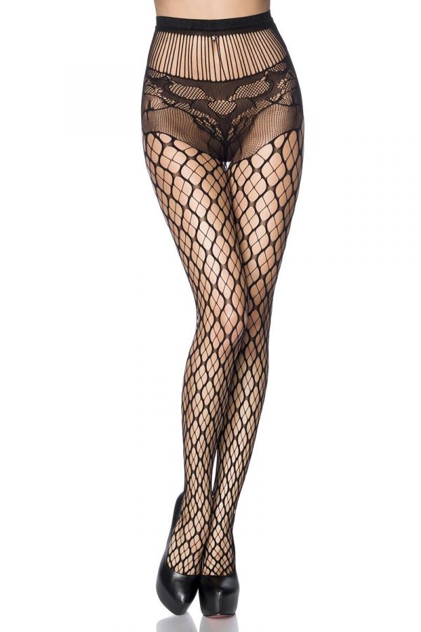 DAT1614067 STOCKINGS NET BLACK