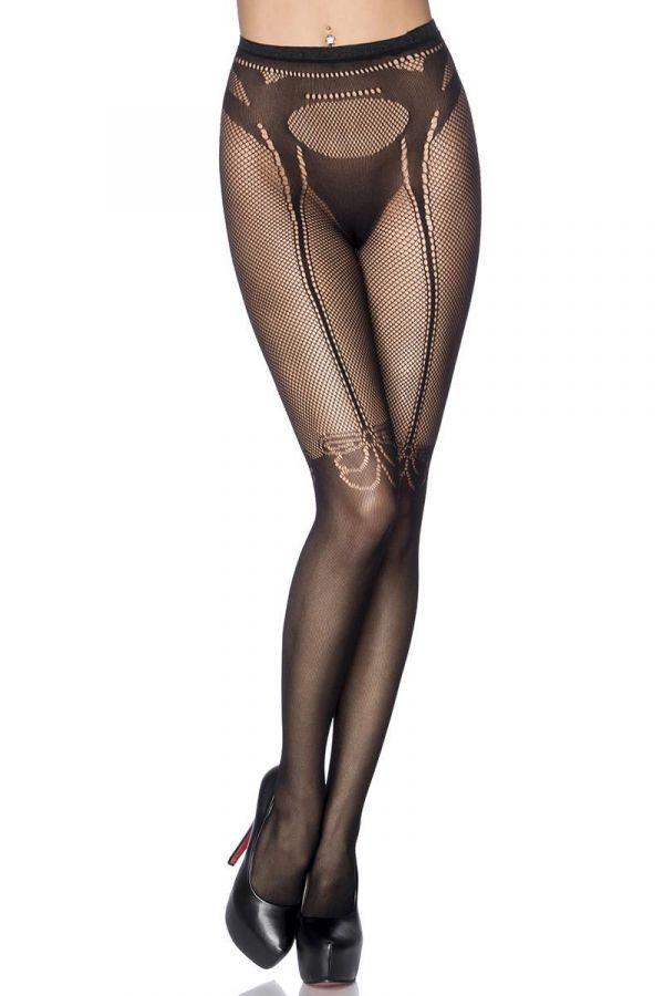 DAT1614071 STOCKINGS NET BLACK