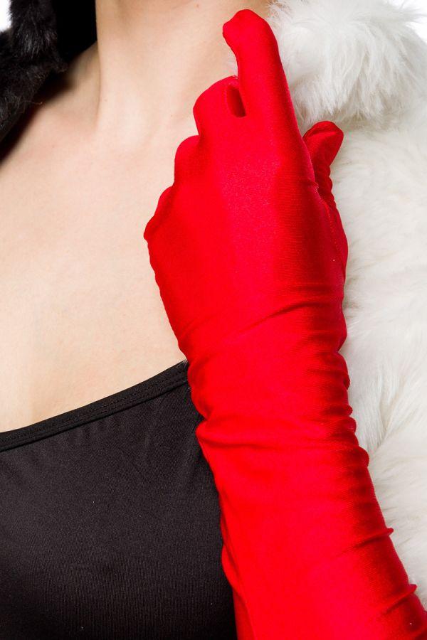 lady cruel κοστούμι περιλαμβάνει φόρεμα γούνινο μπολερό και γάντια πολύχρωμο