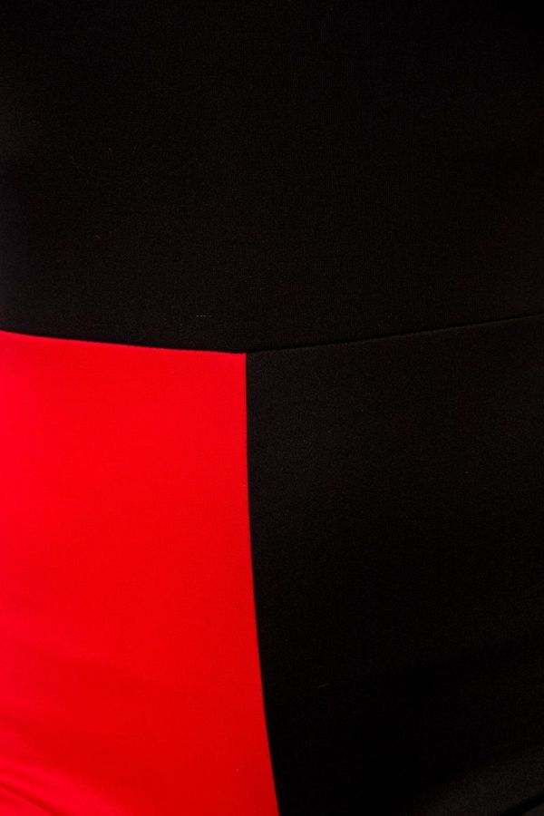 crazy harley κομπλέ σετ κοστούμι περιλαμβάνει κοντή ολόσωμη φόρμα και γκέτες μαύρο κόκκινο
