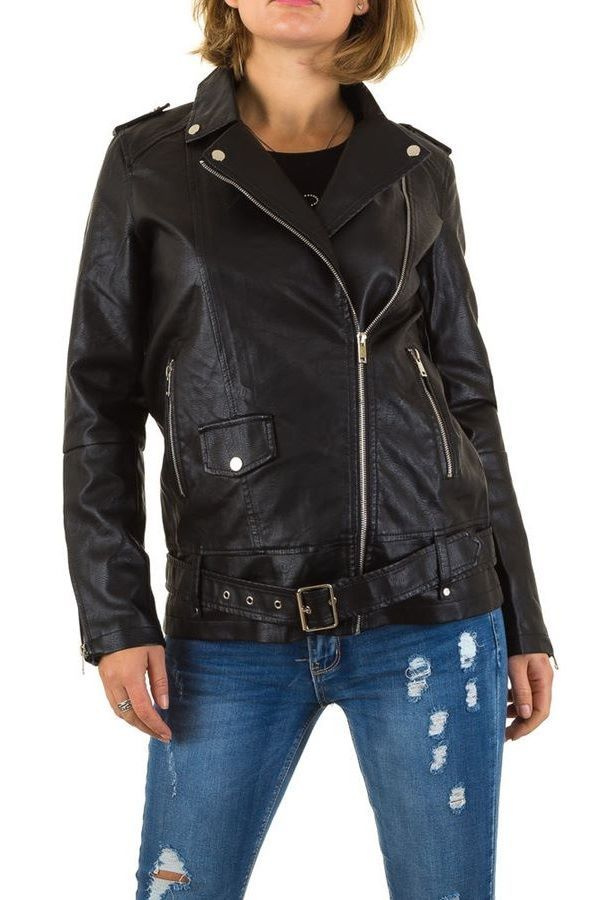 JACKET BIKER LEATHERETTE BLACK FSWS9502