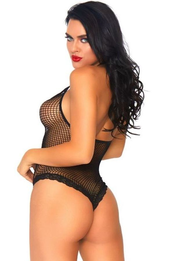 BODY LINGERIE NET LACE STRING BLACK DRED220249