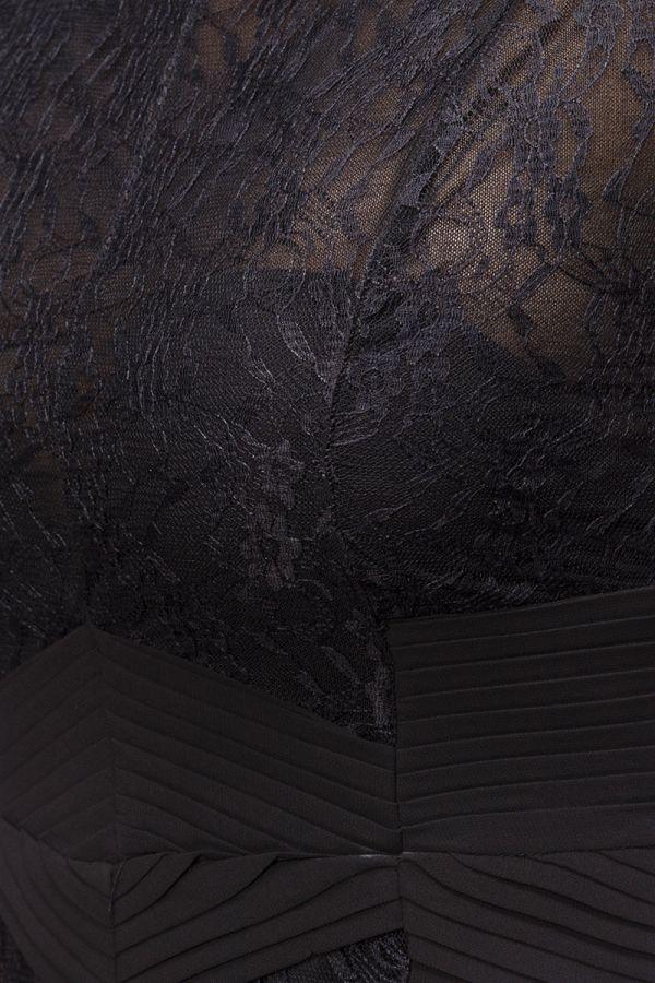 εντυπωσιακό βραδινό μακρύ-μάξι μαύρο φόρεμα με δαντέλα