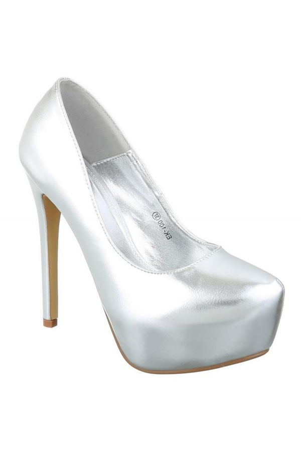 ESW10000 PUMP HIGH HEELS METALLIC SILVER