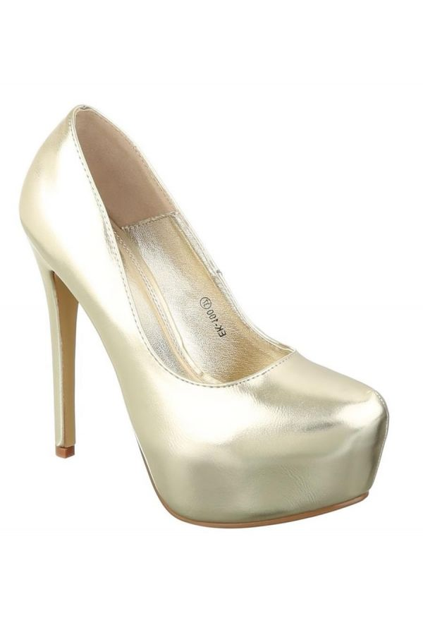 ESW10000 PUMP HIGH HEELS METALLIC GOLD