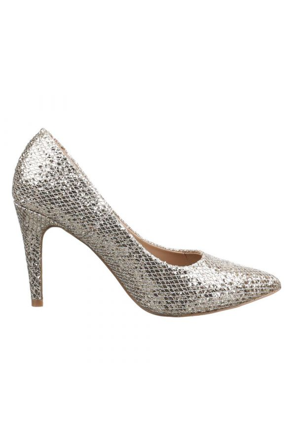 ESW237Y2 PUMP GLITTER POINTED GOLD