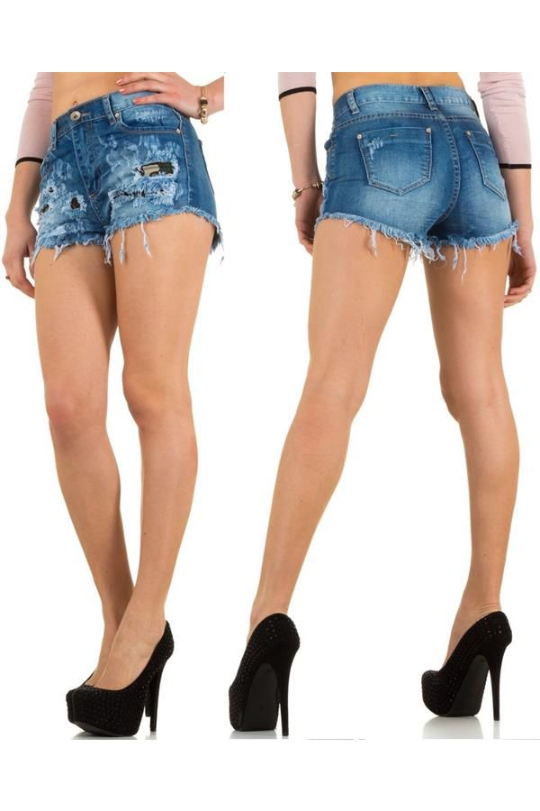 ESW591S2 SHORTS JEAN BLUE